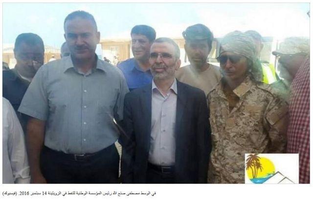 Libyan National Oil Company Chairman Mustafa Sanalla in Zeutina 14 September 2016 Alwasat