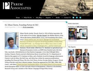 Dr. Ethan Chorin, founding-partner CEO Perim Associates. Perimassociates.com