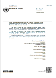 UN Security Council Report on Libya March 2016
