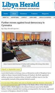 Further moves against local democracy in Cyrenaica Libya Herald