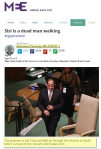 Sisi is a dead man walking Middle East Eye